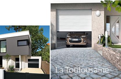 Menuiserie le gros portes de garage for Porte de garage la toulousaine villa